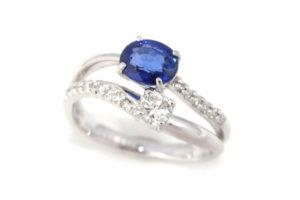 色石とダイヤモンドのリングをリフォーム