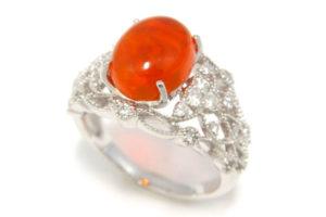 色石のリングをリフォーム